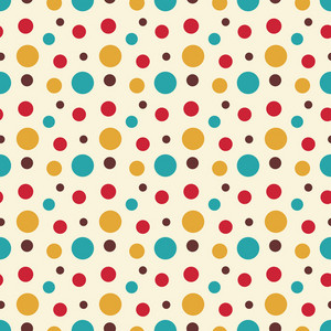 Colourful Polka Dot Circus Pattern