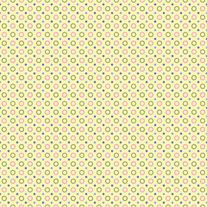 Colourful Polka Dots Pattern On A Yellow Background