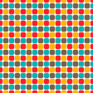 Colourful Squares Pattern