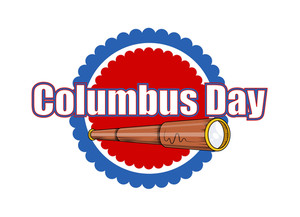Columbus Day Binocular Vector Graphic Banner Design