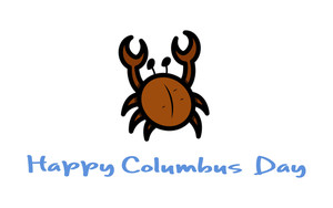 Columbus Day Crab Vector