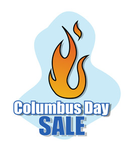 Columbus Day Fire Sale Banner Vector