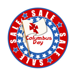 Columbus Day Flag Banner
