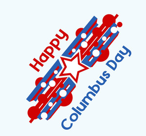 Columbus Day Graphic Background