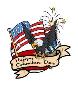 Columbus Day Graphic Banner Vector