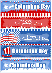 Columbus Day Graphic Banner