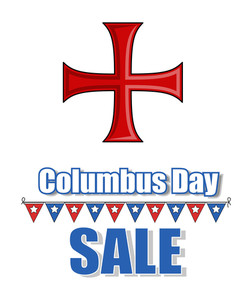Columbus Day Greeting Banner