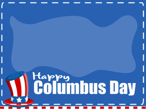 Columbus Day Holiday Banner Vector