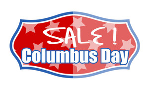 Columbus Day Sale Banner Vector