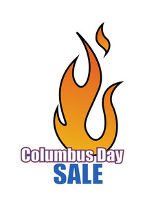 Columbus Day Sale Fire Banner Vector
