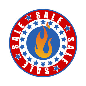 Columbus Day Sale Fire Banner