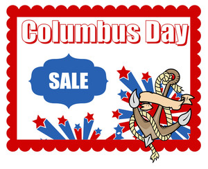Columbus Day Sale Graphic Vector Background