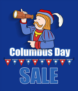 Columbus Day Sale Graphic