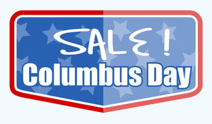 Columbus Day Sale Label Banner