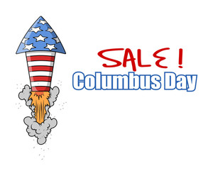 Columbus Day Sale Rocket Banner