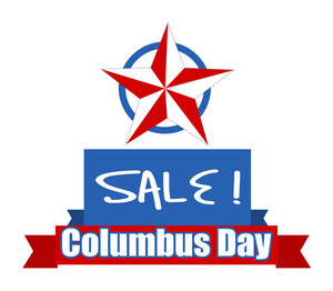 Columbus Day Sale Star Banner