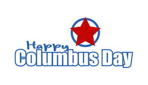Columbus Day Vector Banner Design