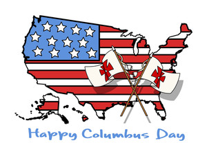 Columbus Day Vector Graphic Background