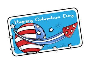 Columbus Day Vector Graphic Banner