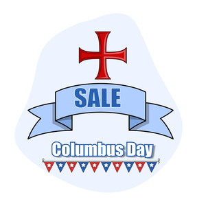 Columbus Day Vector Sale Banner Background