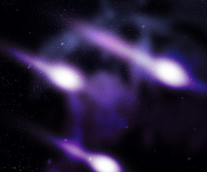 Comets Outer Space Backdrop