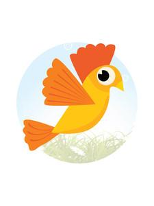 Comic Bird Illustration