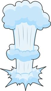 Comic Bomb Explosion Vector Illustration