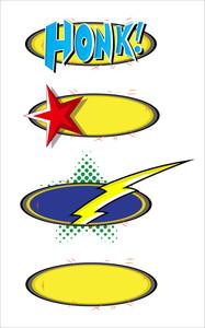 Comic Bubble Comic Explosion Vector Illustration