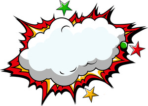 Comic Cloud Background Vector