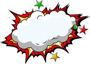 Comic Cloud Background Vector
