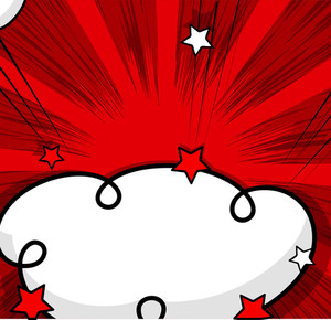 Comic Cloud Sunburst Background