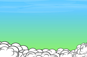Comic Clouds Sky Background