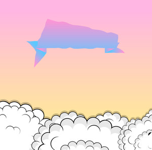 Comic Clouds Speech Bubble Background
