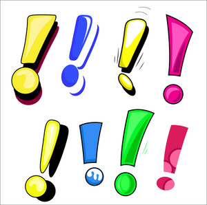 Comic Exclamation Mark Set Vector