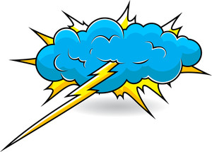 Comic Explosion Cloud Vector Illustration