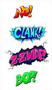 Comic Expression Vector Text Elements