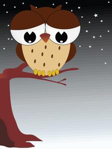 Comic Owl Illustration