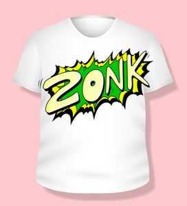 Comic T-shirt Design Vector