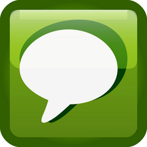 Comment Bubbles Green Tiny App Icon