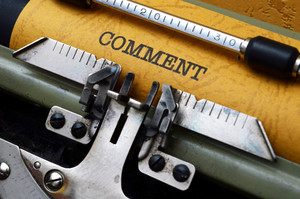 Comment Text On Typewriter