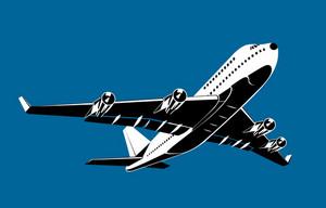Commercial Jet Plane Airliner Flying