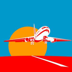 Commercial Jet Plane Airliner Taking Off