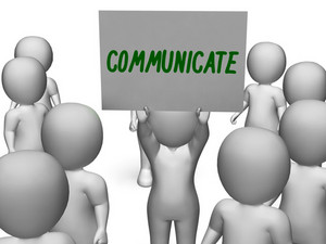 Communicate Sign Showing Speaker Or Discussion