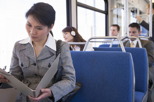 Commuters on public transportation