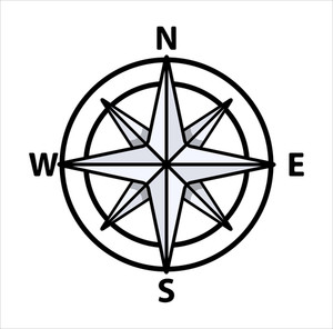 Compass Sign - Vector Illustration