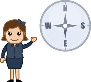 Compass Vector Cartoon
