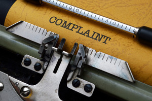 Complaint  Text On Typewriter
