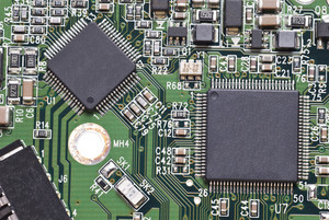 Computer Circuit Board Close-up
