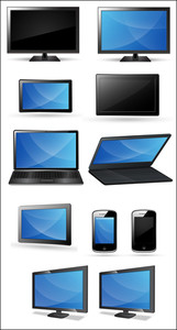 Computer, Laptop, Mobile And Tablets Vectors