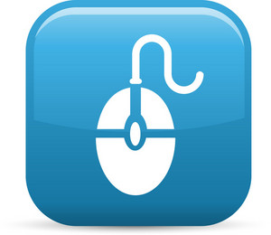 Computer Mouse Elements Glossy Icon